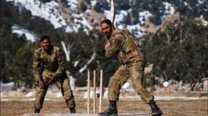 Army Playign Cricket