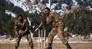 Army Playign Cricket
